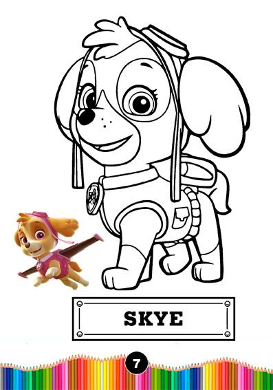 Patrulha Canina Revistinha De Colorir Personalizada
